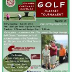 2016 Carthage Golf Classic Flyer 22JUL16