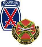 Home of FT Drum, NY and the 10th Mountain Division (Light Infantry)