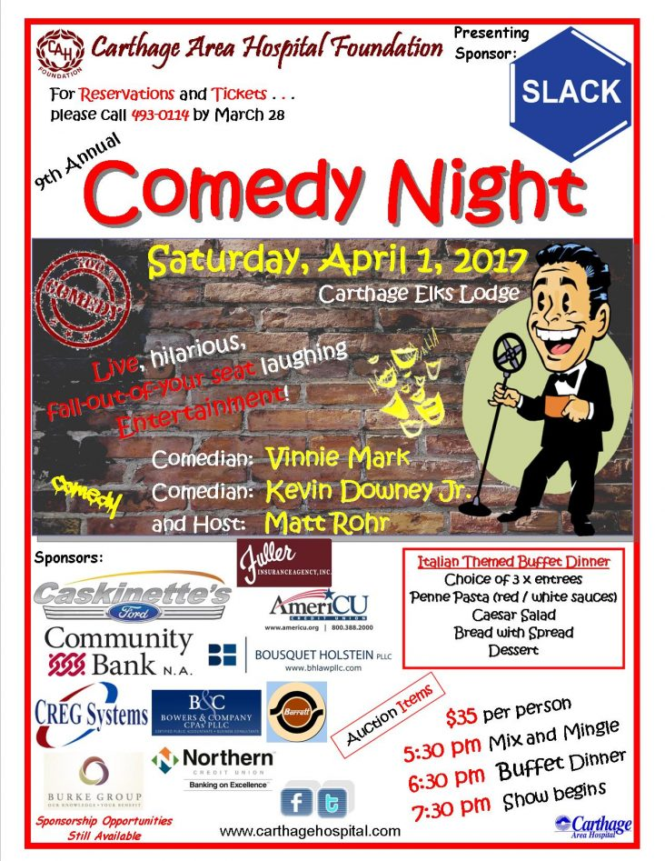 2017 CAH Foundation Comedy Night Flyer 04012017