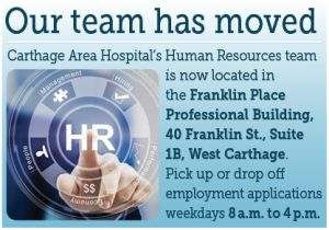 Carthage Area Hospital's HR Team Moved