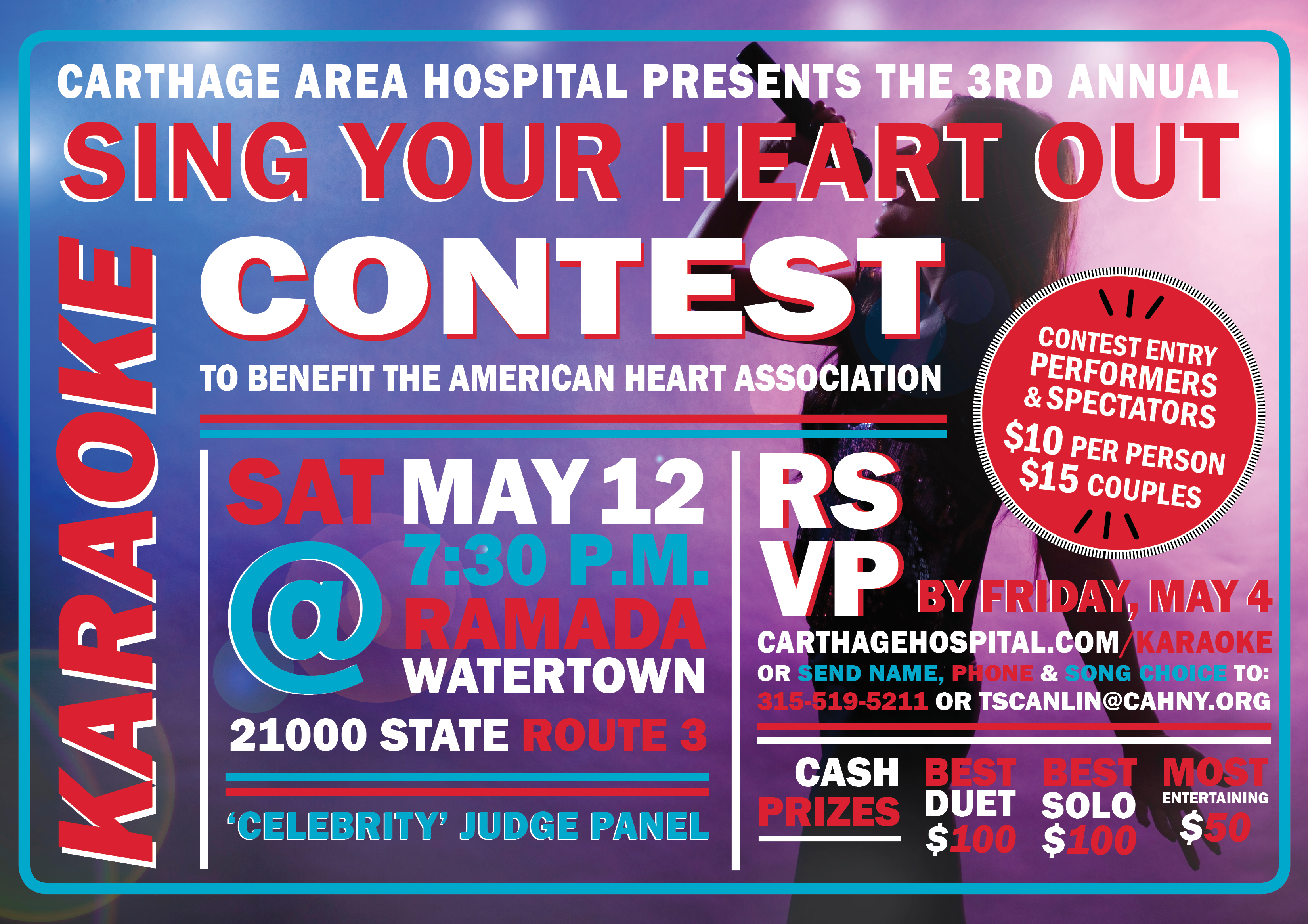 Sing Your Heart Out' to Help End Heart Disease in 3rd Annual