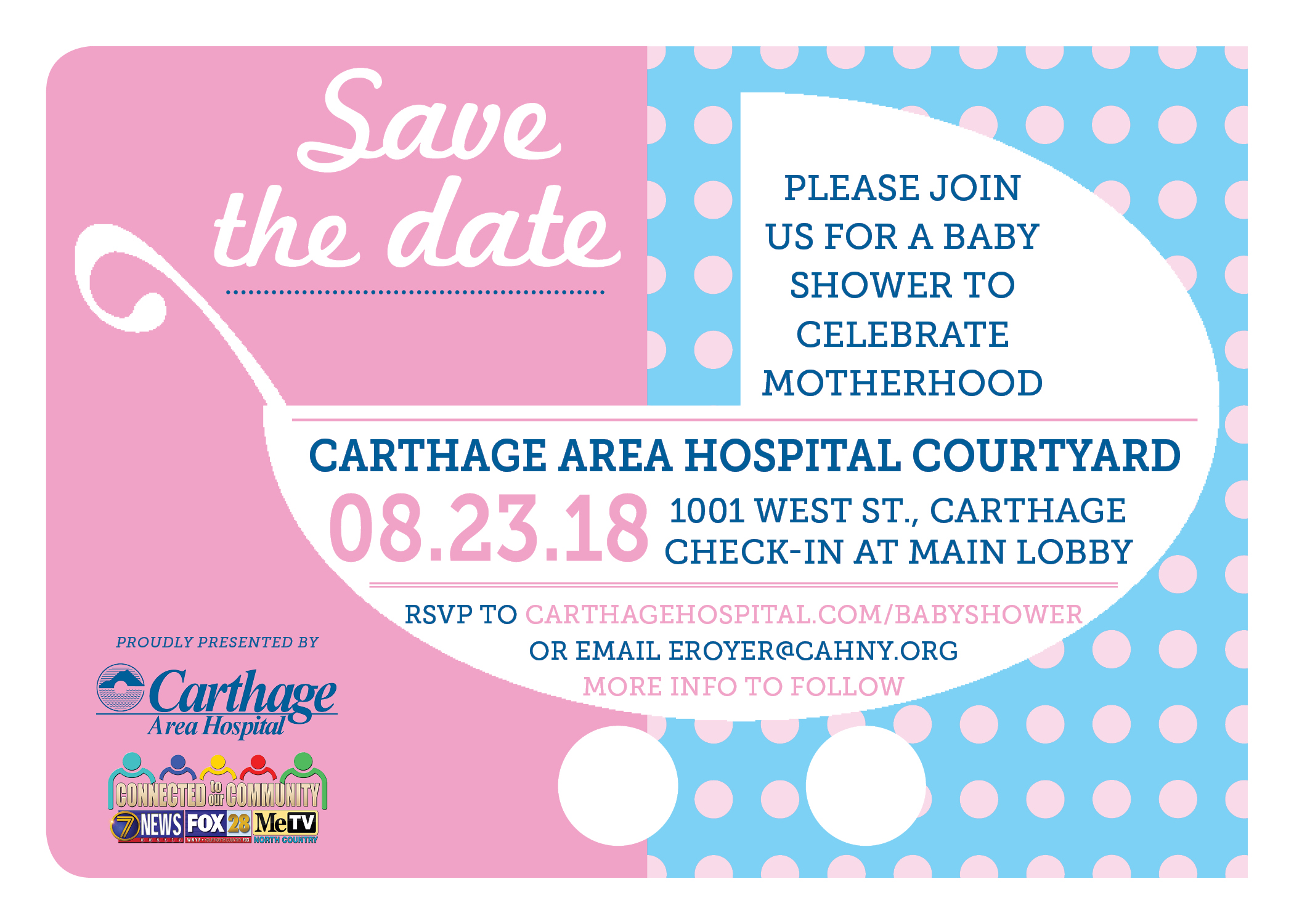 save the date for annual healthy babies healthy moms shower